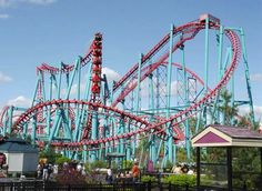Mind Eraser at Six Flags New England in Agawam, Massachusetts