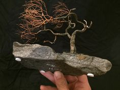 TAE Trees: art sculpture for the experience of trees. Bonsai Styles, Peace Art, Miniature Trees, One Tree, Wabi Sabi, Recycled Materials, Copper Wire, Sculpture Art, Etsy Seller
