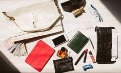 Tamara Mellon, inside of her bag.