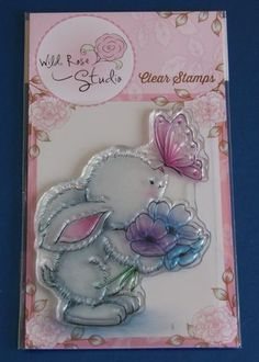 Wild Rose Studio 'Bunny and Butterfly' Clear Stamp CL463 | eBay