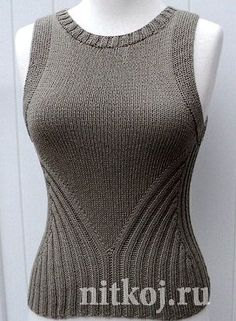 ravelry project gallery for debardeur femme 427 480 pattern by phildar design team - PIPicStats Knitting Designs, Knitting Stitches, Free Knitting, Knitting Projects, Knitting Charts, Summer Knitting, Knit Or Crochet, Crochet Socks, Knit Patterns