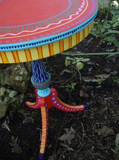 Hand Painted Table Lamp 004 Fun Funky Whimsical and by LisaFrick Funky Painted Furniture, Painted Chairs, Refurbished Furniture, Colorful Furniture, Paint Furniture, Repurposed Furniture, Furniture Making, Cool Furniture, Furniture Stores