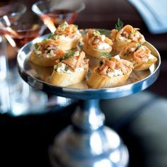 Smoked Salmon Crostini - Smoked salmon is always a welcome addition to an elegant appetizer table. Get a head start on your party preparations by making this salmon mixture early in the day.