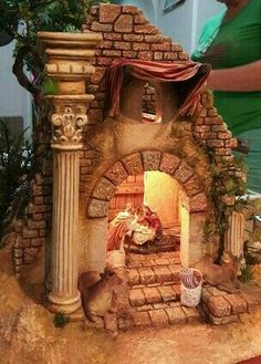 1 million+ Stunning Free Images to Use Anywhere Nativity Stable, Christmas Nativity Scene, Nativity Crafts, Christmas Villages, Christmas Wood, A Christmas Story, Christmas Holidays, Styrofoam Art, Mason Jar Terrarium