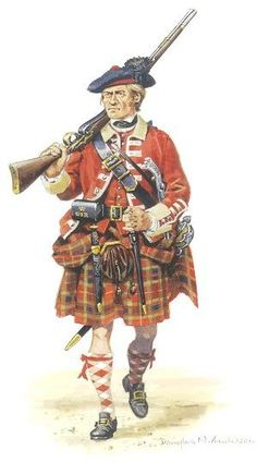 78th Regiment of Foot (Fraser's Highlanders) - Private c1757-1763. For more information on Scottish Uniforms click on the link below:-