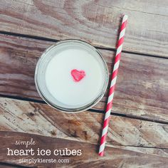 These adorable heart ice cubes take just minutes, but are an extra fun touch for any special meal, especially Valentine's Day. Kids LOVE it!