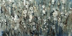 Contemporary painting of several flowers in a field, in blue and grey tones. White Blooms with Navy I Wall Art by Tim O'Toole from Great BIG Canvas. Shop Great BIG Canvas for more botanical abstract wall art! Canvas Art Prints, Framed Art Prints, Framed Artwork, Fine Art Prints, Big Canvas Art, Canvas Wall Art, Floral Wall Art, Abstract Wall Art, Botanical Art