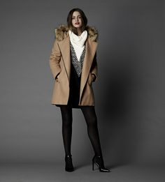 RW&CO. | Coat Check | Wool coat with asymmetrical zipper and hood | Fall 2015