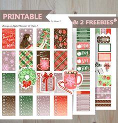 CHRISTMAS Printable Sticker Kit,Christmas Happy Planner kit,DECEMBER sticker kit,December Sticker,Winter Sticker,Printable Christmas Sticker