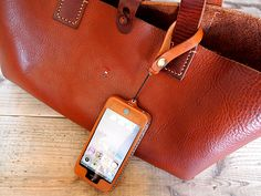 Leather Tote and iPhone 5 case by Hoppendakko