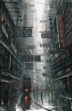 """""""Hongkong"""", Wang Ling, Digital, 2012"""