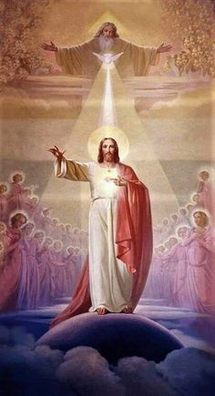 Holy Trinity, God the Father, the Son and the Holy Spirit , Pictures Of Jesus Christ, Religious Pictures, Catholic Art, Religious Art, Trinity Catholic, Image Jesus, Jesus Painting, Jesus Art, God Jesus