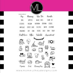 Kawaii Stamps for your planning needs, journaling and all crafty projects.
