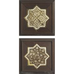 Two Persian Lustre-Glazed Star-form Tiles, Kashan, 13th century