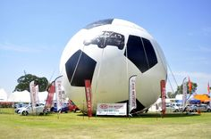 The world's largest soccer ball at the Food and Music Festival. See World, World's Biggest, Soccer Ball, Worlds Largest, Music, Pictures, Food, Musica, Photos