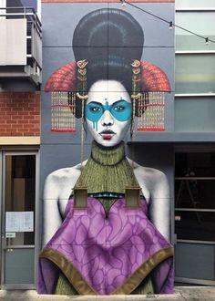 "Artist: fin DAC @findac - ""Zaluuokhin""- City: Adelaide, Australia #StreetArt #urbanart #Australia"