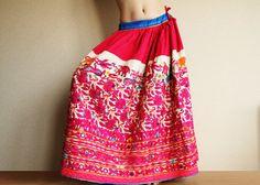 Vintage skirt Gypsy Banjara Peasant Embroidered by ChandrikaShop, $150.00  With shisha mirrors!!!