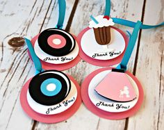 Sock Hop Birthday Party Favor Tags (set of 12)