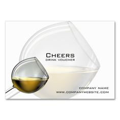 Bar, Restaurant or Winery Drink Vouchers Large Business Cards (Pack Of 100). I love this design! It is available for customization or ready to buy as is. All you need is to add your business info to this template then place the order. It will ship within 24 hours. Just click the image to make your own!