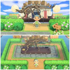 A simpler approach to a museum entrance Animal Crossing Wild World, Animal Crossing Guide, Animal Crossing Characters, Animal Crossing Qr Codes Clothes, Animal Crossing Pocket Camp, Ac New Leaf, Lobby Design, Design Museum, Museum Exhibition Design