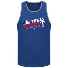 Texas Rangers Majestic Authentic Collection Team Choice Tank Top - Royal - $16.99