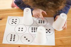 Fall Preschool Activities, Kindergarten Math Worksheets, Montessori Activities, Teaching Activities, Infant Activities, Classroom Tools, Math Classroom, Cup Crafts, Toddler Fun