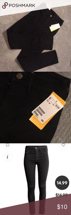 NEW high waisted black jeans Never worn with tags! Fit a bit snug H&M Jeans Skinny