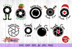 Santa cam svg, for Silhouette Cameo or Cricut MStudio Crafters SVGs Christmas Fonts, Christmas Projects, Christmas Stuff, Diy Christmas, Christmas Bulbs, Ems Studio, Santa Cam, Vinyl Gifts, Silhouette Cameo Projects
