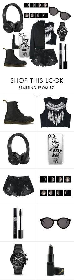 """""""Who needs 'em"""" by veggiegirl101 ❤ liked on Polyvore featuring Dr. Martens, WithChic, Beats by Dr. Dre, Casetify, Christian Dior, Thierry Lasry, FOSSIL, Barry M and NIKE"""