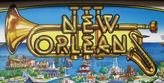 New Orleans posters | New Orleans Poster illustration was created by Gayle Grout in 1983 ...