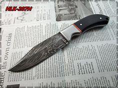 Damascus Custom Made Hunting Knife,Buffalo Horn,Steel Bolster Handle.HLK-207H #Homelandknives