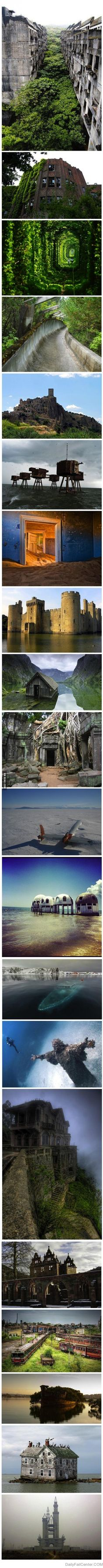 The 20 most awesome abandoned places. I do love them abandoned places. Places Around The World, Oh The Places You'll Go, Places To Travel, Places To Visit, Around The Worlds, Lost Places, Abandoned Mansions, Abandoned Buildings, Abandoned Places