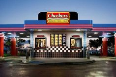The restaurant. Wallpaper and background photos of Checkers for fans of Fast Food images. Burger Restaurant, Fast Food Restaurant, Restaurant Recipes, Fast Food Places, Best Places To Eat, The French Laundry, Restaurants, Florida Food, Fast Food Chains