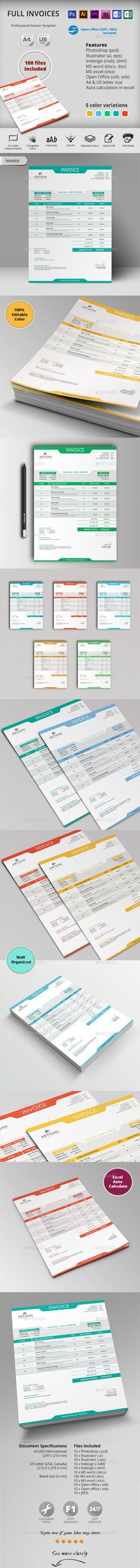Clean Customisable Invoice Template Template, Print templates - product invoice template