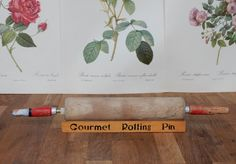 Vintage Rolling Pin with Stand, shabby chic, retro , boho, kitchenware, Rustic Charm. by Route46Vintage on Etsy