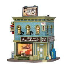 The Coin-O-Matic Laundromat is a building right out of the 1950's! Complete with a soda pop stand and old school advertising.  Relive the fun and excitement of the Fabulous 50s through our Jukebox Ju