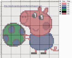 bordados en punto cruz de peppa pig - Buscar con Google