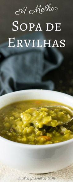 Uma receita deliciosa de sopa de ervilhas - a melhor!!   Malas e Panelas
