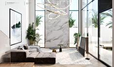 Villas on Behance Interior Design Inspiration, Decor Interior Design, Exterior Design, Interior And Exterior, Foyer Flooring, Luxury Kitchen Design, Cuisines Design, Minimalist Bedroom, Apartment Interior