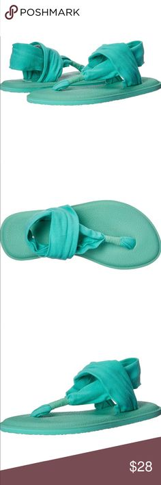 Sanuk 6 Women/'s Yoga Sling 2 Spectrum Mat Beach Sandal Flip-Flops Mint Green
