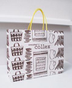 Collex Shopping Bag Luxury Packaging, Bag Packaging, Packaging Design, Identity Design, Visual Identity, Paper Carrier Bags, Paper Bag Design, Innovation Design, Bag Making