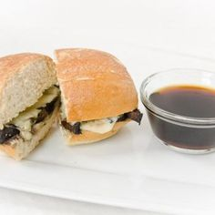 Roasted Portobello French Dip - vegan-The order of the directions are weird, and it was complicated, but it was really tasty.