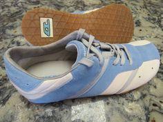 DIESEL Shaela Blue Suede Leather Athletic Sneakers Shoes Women's US 8.5 #DIESEL #RunningCrossTraining