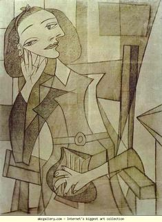 .Pablo Picasso. Nusch Éluard. 1938. Charcoal and pencil on canvas.