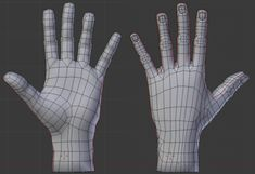 3d anime hand topology 3d Model Character, Game Character Design, Character Modeling, Body Reference, Anatomy Reference, 3d Human, Human Body, Polygon Modeling, Anatomy Models