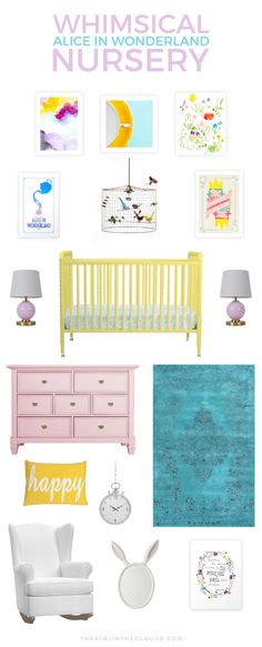 Create a baby girl's room filled with whimsy and quirkiness with this Alice in…