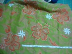 Vintage Large Floral Cotton Print fabric by MaryMackMadeMine, $12.00