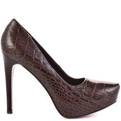 Heels I LOVE ... Paris Hilton    Audra - Brown Croc