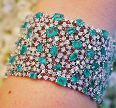 Djula Jewelry emerald and diamond bracelet