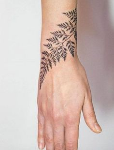 Fern Tattoo on Wrist by Mowgli